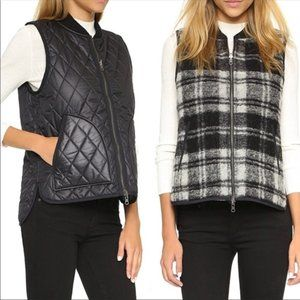 Madewell Reversible Plaid Vest E1233